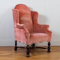 Attractive Large Early 20th Century Wingback Armchair (2 of 13)