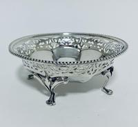 Antique Solid Sterling Silver Pierced Bonbon Dish (2 of 9)