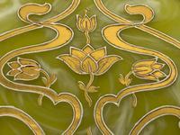 Antique Art Nouveau Loetz Art Glass Round Gilt Floral Trinket Box (27 of 33)