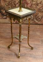 Antique Gilt French Floor Lamp Table (7 of 12)