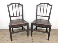 Pair of Antique Carved Oak Hall Chairs (3 of 13)