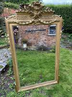 Large gilt mirror with swags (2 of 6)
