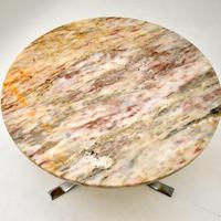 1960's Vintage Marble & Chrome Coffee Table (5 of 8)