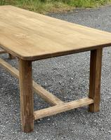 Large French Bleached Farmhouse Dining Table (10 of 26)