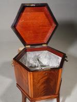 Good George III Period Hexagonal Mahogany Wine Cooler (2 of 6)