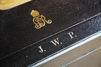 George V John Peck Black Morocco Leather Despatch Box (2 of 12)