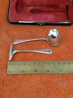 Vintage Sterling Silver Hallmarked Cased Spoon & Pusher 1955 Sheffield, Viner's Ltd (7 of 9)