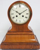 Impressive Solid Walnut Drum Head Striking Mantel Clock PHS Mantle Clock (5 of 12)