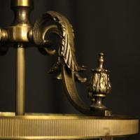 French Gilded Four Light Convex Hall Lantern (4 of 10)
