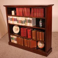 Mahogany Open Bookcase - England c.1900 (7 of 11)