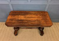 Good William IV Rosewood Library Stretcher Table (12 of 12)