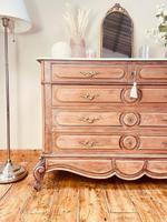 French Vintage Chest of Drawers / Antique Style Washstand / Marble Chest (4 of 9)