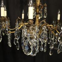 Italian 8 Light Gilded Bronze Antique Chandelier (3 of 10)