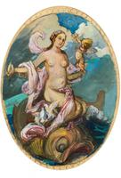 Exclusive Russian Symbolism Painting from Private Collection. #1 Female with a Fish
