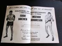 1958 Boxing Programme  For Eddie Machen Vs Ingemar Johansson September 14th Sweden (2 of 4)