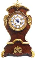 Antique French Burr Walnut & Ormolu 8-Day Mantel Clock Rococo Boulle Case Segment Dial (2 of 11)