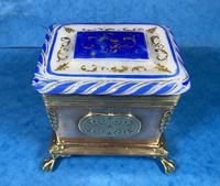 Arts & Crafts Glass and Brass Single Tea Caddy. (17 of 18)