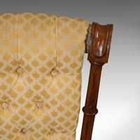 Set of 4 Antique Chairs, Scottish, Walnut, Suite, Dining, Victorian c.1890 (11 of 12)