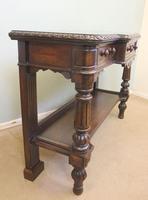 Antique Oak Victorian Shaped Sideboard Server (9 of 15)