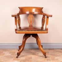 Oak Revolving Office Desk Chair (2 of 10)