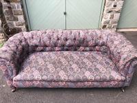 Antique English Upholstered Chesterfield Sofa (6 of 12)