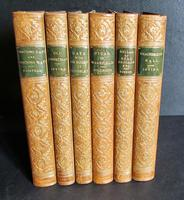 1892 Collection of Zaehnsdorf Leather Books Washington Irving + Oliver Goldsmith