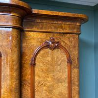 Spectacular Quality Figured Burr Walnut Antique Triple Wardrobe (2 of 10)