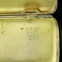 Antique Solid Silver Blue Enamel Guilloche Cigarette Case - Robert Chandler 1916 (9 of 15)