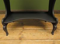 Antique Art Nouveau Black Writing Bureau Desk with Carvings, Lockable, Gothic (8 of 23)