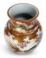 Meiji Period Kutani Vase Decorated with Geese (5 of 6)