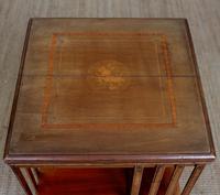 Edwardian Revolving Bookcase Inlaid Mahogany (5 of 6)