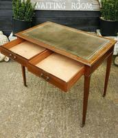 Victorian Mahogany Two-Drawer Writing Desk (7 of 8)