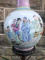 Oriental Chinese Ceramic Table Lamp (3 of 6)