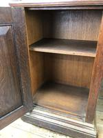 Antique Oak Pedestal Partners Desk (7 of 9)
