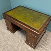 Large Victorian Mahogany Antique Partners Desk (6 of 10)