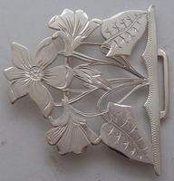 Rare 1902 Art Nouveau Hallmarked Solid Silver Nurses Belt Buckle Sydney & Co (3 of 10)
