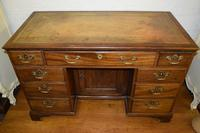 Quality Georgian Mahogany Kneehole Leather Top Desk (9 of 9)