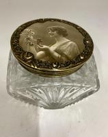 Art Nouveau French Glass Trinket Box c.1915 (3 of 7)