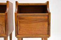 1960's Pair of Vintage Italian Walnut Bedside Cabinets (8 of 10)
