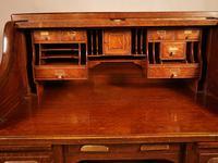 Good Oak Roll Top Desk by Maples London (7 of 12)