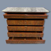 Exceptional French Marble Top Mahogany Inlaid Commode (8 of 12)