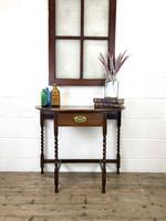 Antique Oak Demi-lune Console Table (14 of 14)