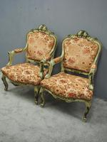 Pair of Italian Carved and Painted Armchairs (16 of 16)