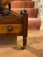 Regency period Rosewood 3-section X-Frame Canterbury (3 of 6)