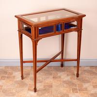 Fine Quality Edwardian Inlaid Mahogany Bijouterie Display Table (7 of 18)