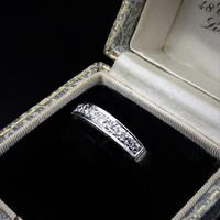 Vintage Diamond 18ct White Gold Half Eternity Band Ring (4 of 10)