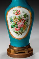Late 19th Century Sevres Style Porcelain Vase Lamp (4 of 5)