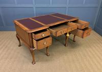 Burr Walnut Partners Writing Desk (3 of 18)