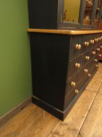 Black Painted Pine Apothecary Cabinet Style Dresser with Multi Drawer Base (2 of 18)