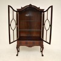 Antique Victorian  Mahogany Display Cabinet (4 of 11)